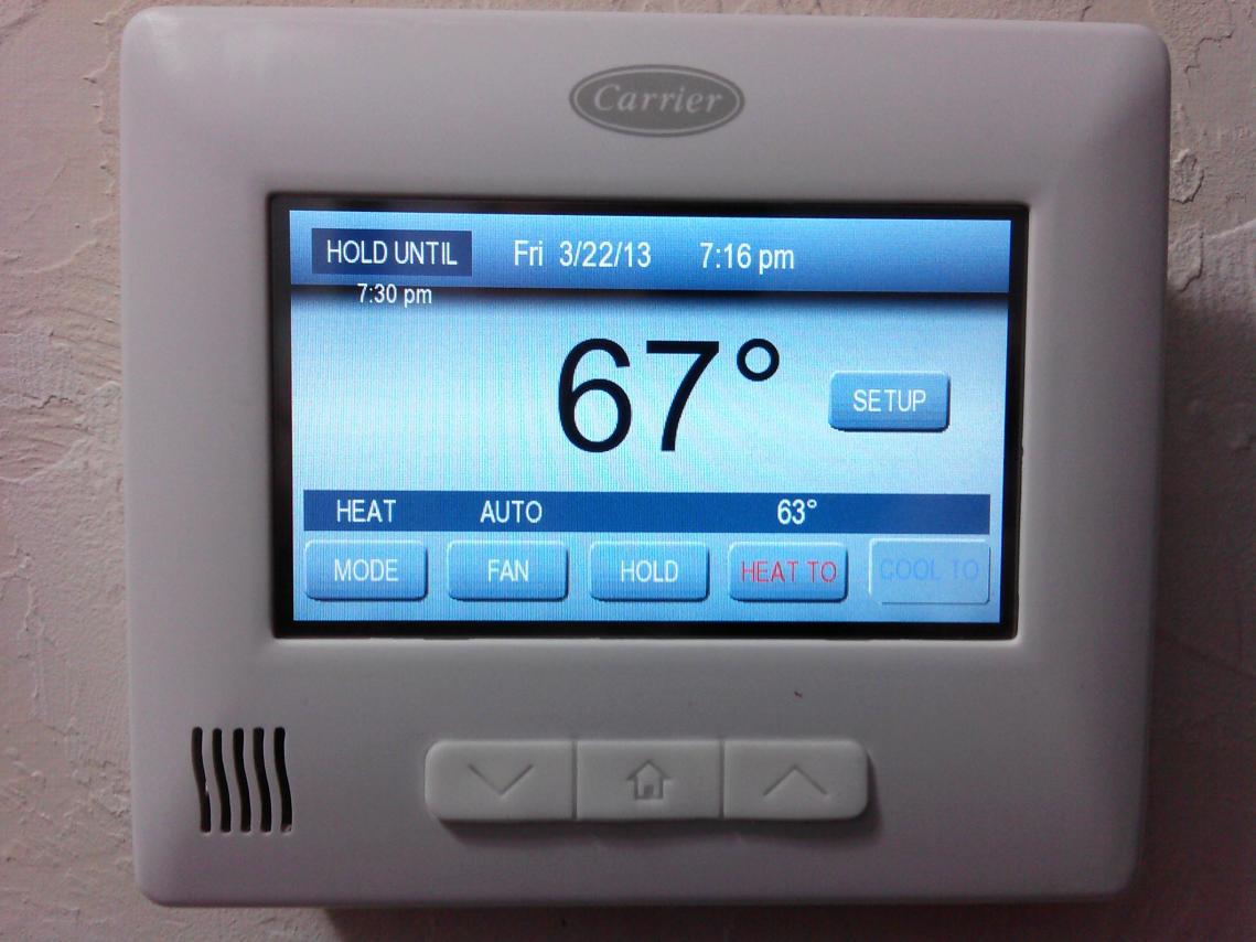 Carrier comfort choice thermostat